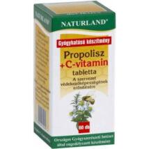 NATURLAND PROPOLISZ + C-VITAMIN TABLETTA 60DB