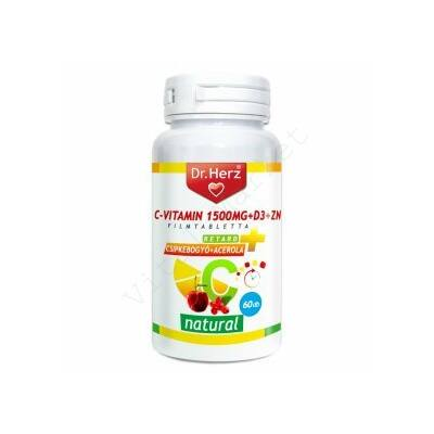 DR. HERZ C-VITAMIN + D3 + ZN-TABLETTA